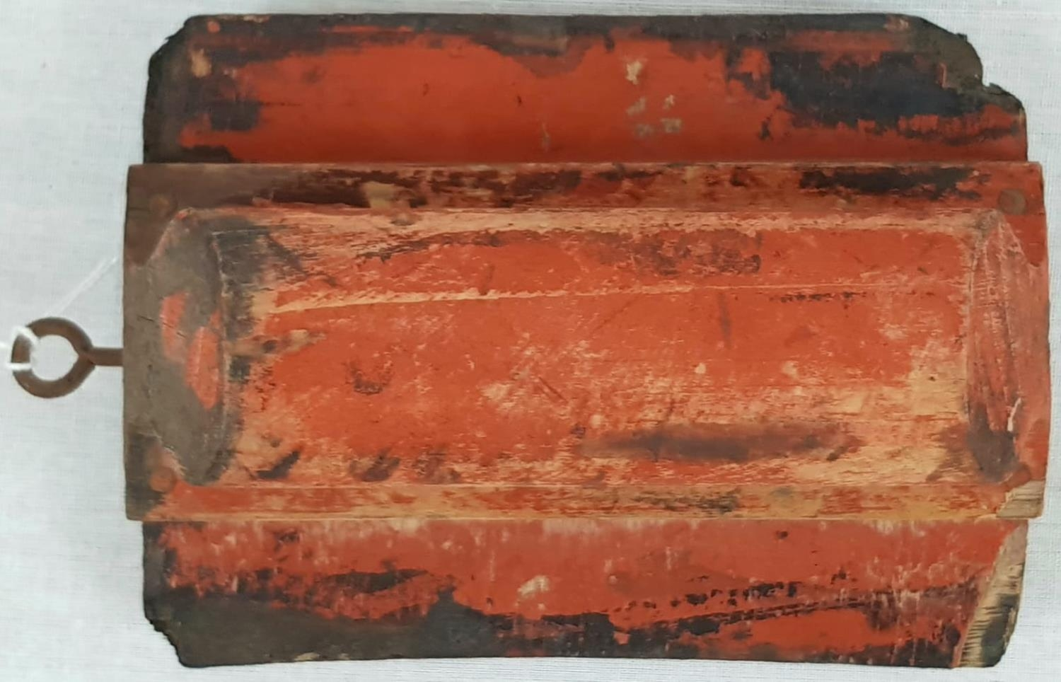 """AN ANTIQUE FREIGHT BOX STAMP WITH """"T.F NEW YORK"""" ON IT. 10 X 14cms - Image 3 of 4"""