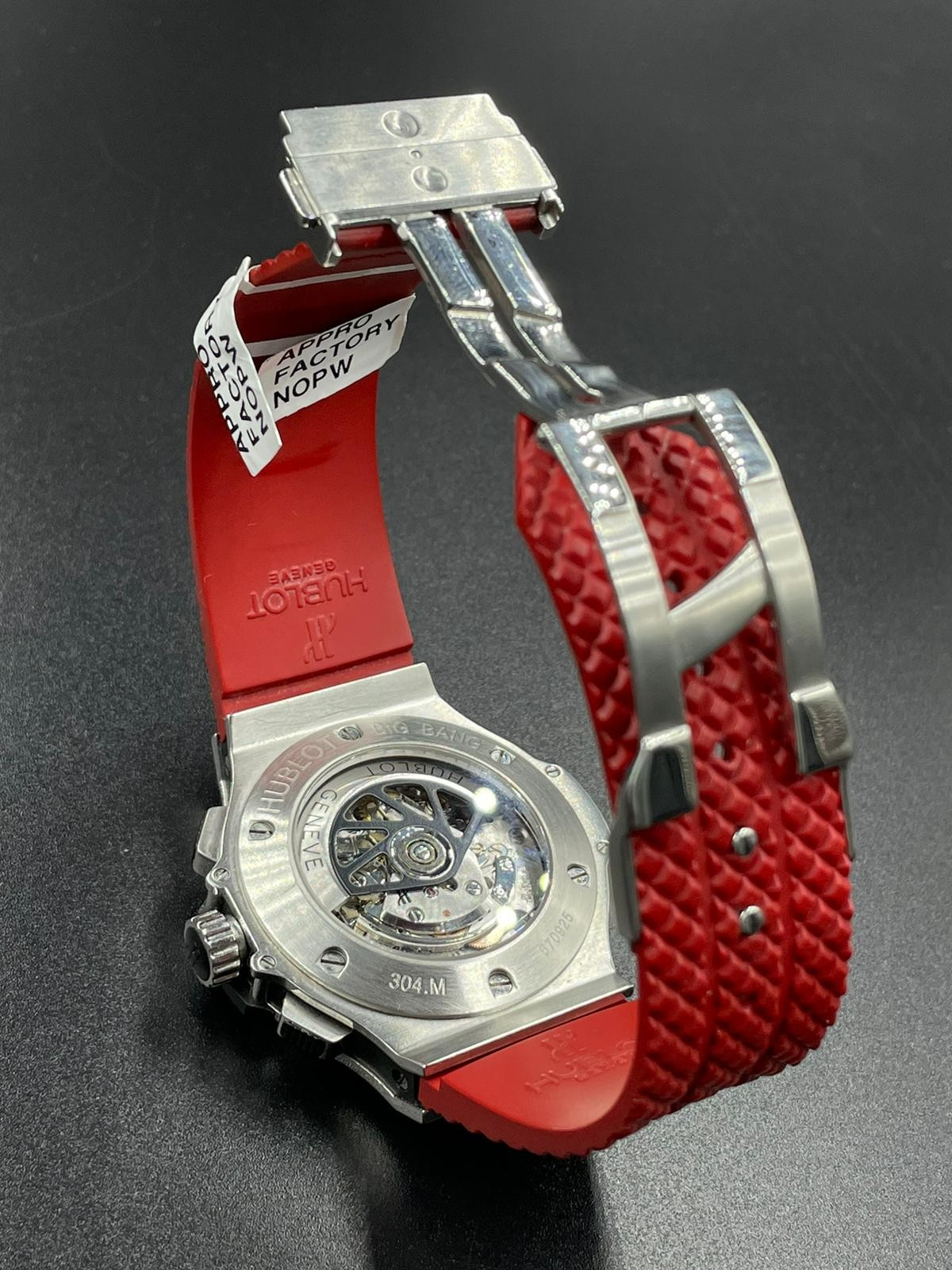 Hublot Big Bang chronometer watch with black face and original diamond dial - Image 3 of 5