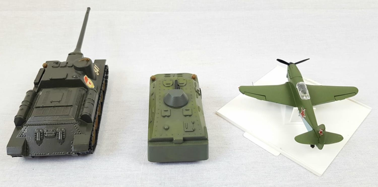 Three Metal Russian Military Model Toys. Made in Russia - Two Tanks and an Aircraft. As New, in - Image 4 of 6