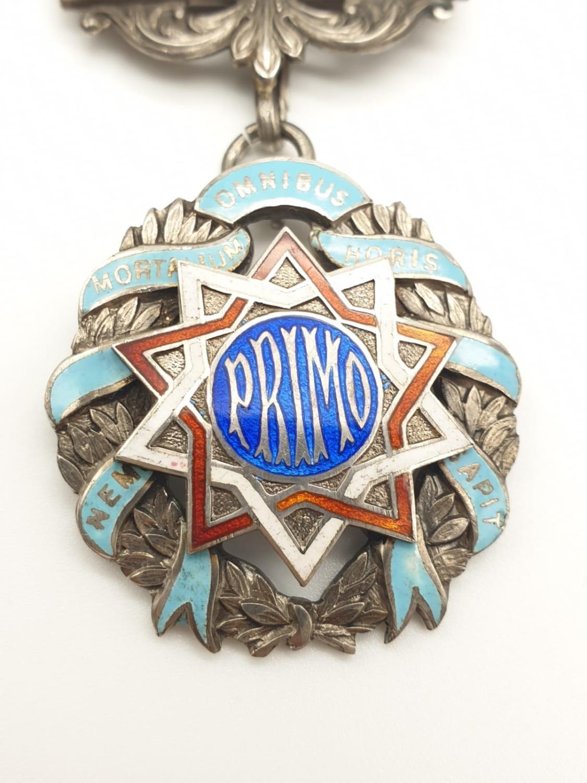 PRIMO Silver enamel medal with original ribbon - Image 2 of 7