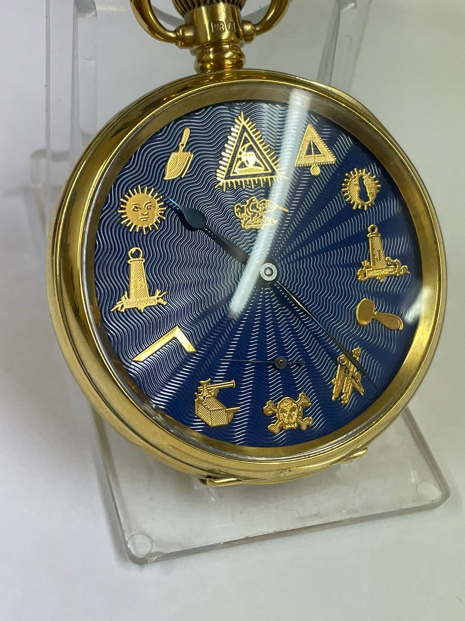 Vintage Masonic Rolex pocket watch with stand good condition and good working order but no - Image 16 of 21