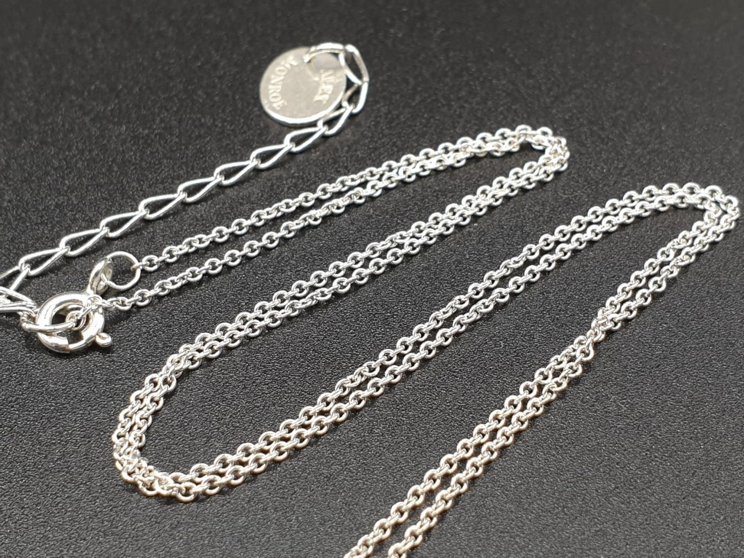 ALEX MONROE STERLING SILVER BIG FEATHER PENDANT ON EXTENDABLE NECKLACE - Image 5 of 6