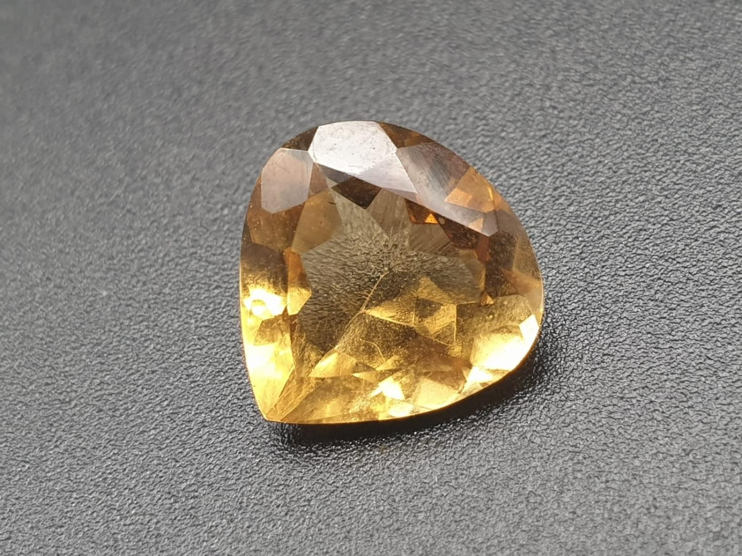 3.82 Cts Natural Citrine stone Pear shape. IDT certified