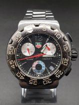 Tag Heuer Formula 1 gents watch, black face twisted bezel, 42mm