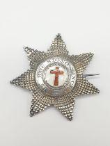 Rare Fully Hallmarked Silver Knights Cross dating to 1853. In Original box from Josh Starkey, Bond