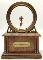 Very Rare 1915 La Mysterieuse Desk Clock. Made by The Hamburg American Clock Company. In need of