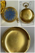 Vintage gents rare Breguet case full hunter pocket watch, Working Sold with no guarantees
