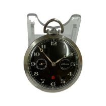 Vintage extremely rare Jaeger Le Coultre 8 day power reserve pocket watch ( working ) ( elusive