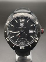 Tag Heuer Formula 1 watch black face and strap, 42mm