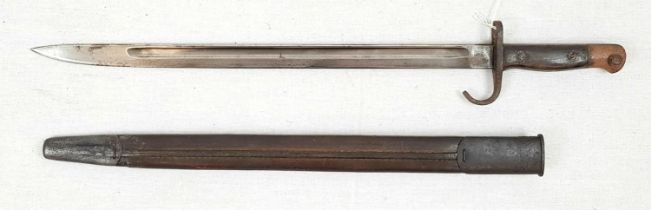 WW1 British Unit Marked Hooked Quillion 1907 Pattern Bayonet. Dated 1909. Unit marked to the 5th
