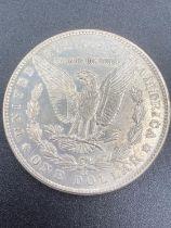 Silver USA Morgan Dollar 1882 . Extremely rare Carson City Mint. extra fine/brilliant condition.
