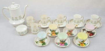 Paragon Bone China Teapot set with Four cups and Saucers - Plus Six Cups and Saucers from the