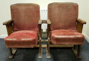A Pair of Original Antique Edmonton Empire Music Hall Theatre Seats. The Empire was built in 1908