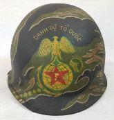 Vietnam War Era ARVN Marines Helmet.