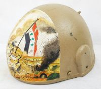 British Mk 6 Ballistic Helmet with a memorial painting of the 1st Guld War in Iraq
