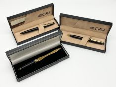 A Colibri Fountain Pen and a Colibri Mechanical Pencil. Excellent condition in original cases - Plus