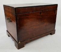 Antique Rosewood Specimen Chest. Brass handles on side. Glue repair to front panel. Hinged lid (