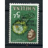 TRISTAN DA CUNHA 1963 5/- re settlement wmk inverted um. SG 66w. Cat £90.