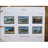 COMMONWEALTH Queen Elizabeth collection in binder, countries Grenada to India um and/or fu with