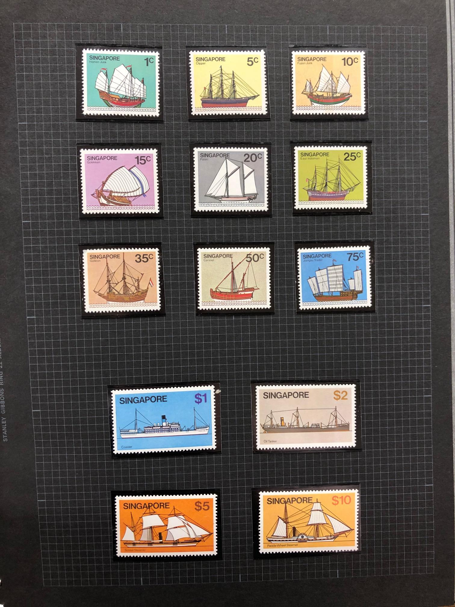 SINGAPORE 1980 - 1993 um collection in album with what appears to be a complete run of commem sets