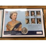 COIN COVERS 2017 Her Majesty in Service in folder.