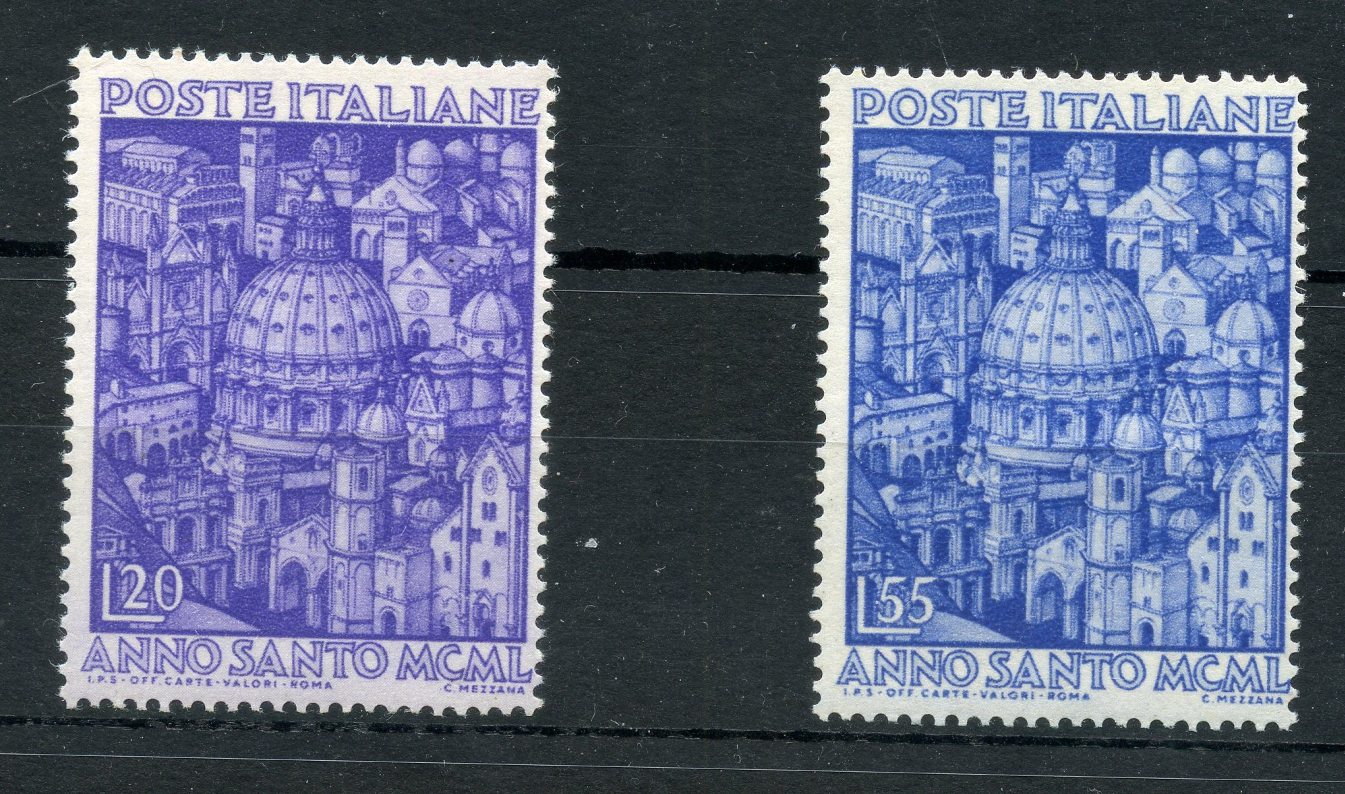 ITALY 1950 Holy Year um. SG 746 - 7. Cat £169.