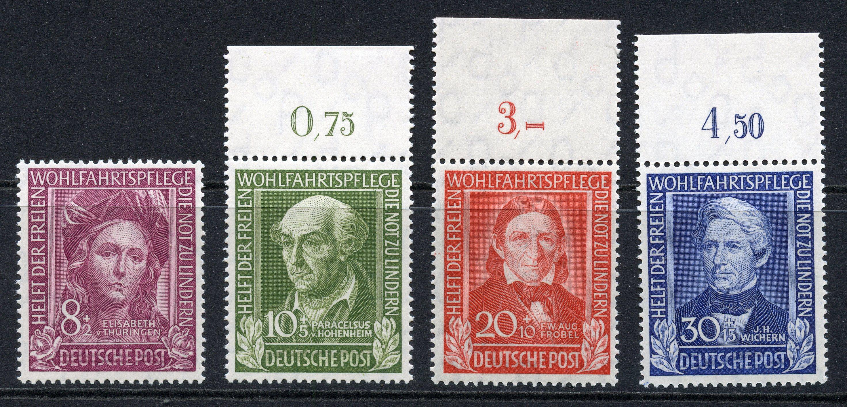 GERMANY WEST 1949 Relief Fund set um. SG 1039 - 42. Cat £160.