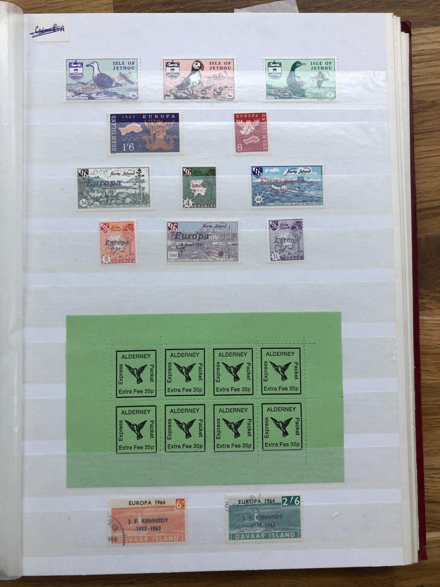 LOCALS stock book well filled with Alderney, Herm, Sark, Lundy etc. Stamps, covers, sheets, trials