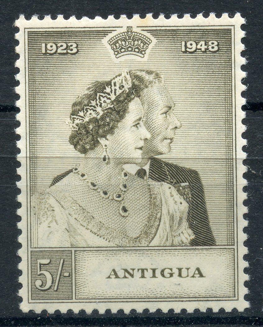 ANTIGUA 1948 5/- Silver Wedding mint. SG 113. Cat £15.