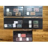USA small mainly mint selection on cards with 1893 Columbus 6c, 8c, 30c unused, 8c, 10c and 30c