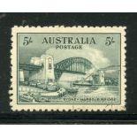 AUSTRALIA 1932 5/- Sydney Harbour Bridge vfu. SG 143. Cat £225.
