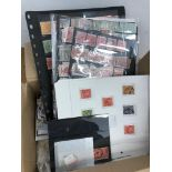 AUSTRALIA collection of mint and used in carton. Includes many KGV Heads, Town/Village cancels
