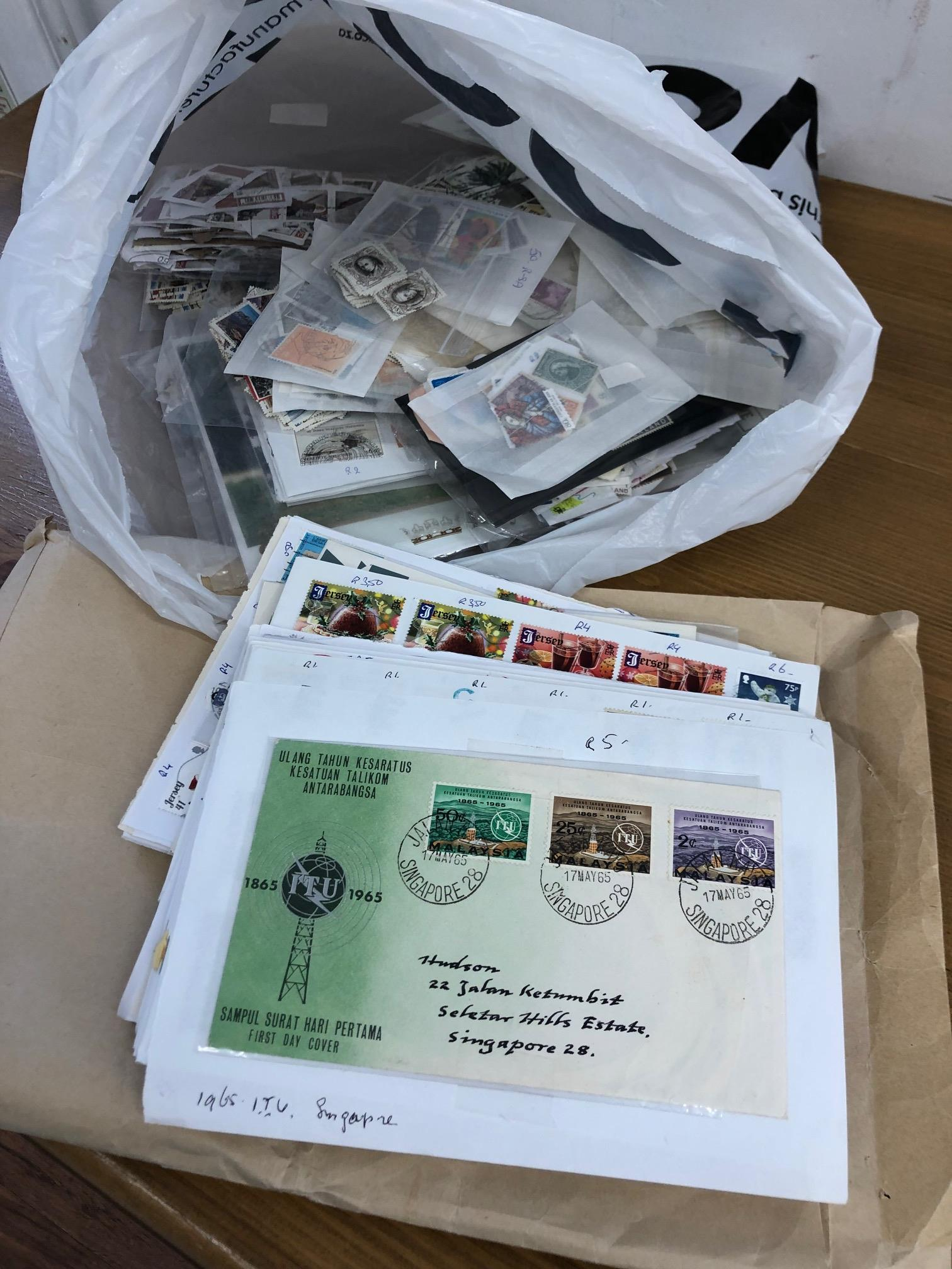 CARRIER BAG containing a mainly modern world selection on club approval sheets with much Africa, CI,