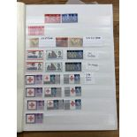GB & CW in stock book with GB mint commems from 1963 - 67, many Wildings particularly wmk Crowns and