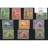 ANTIGUA 1932 Tercentenary set um. SG 81 - 90. Cat £225.
