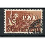 SWITZERLAND 1945 2f Peace fu. SG 456. Cat £250.
