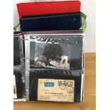 COVERS carrier bag containing 3 albums of mixed world and GB, mostly FDCs but a few earlier