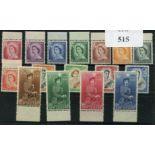 NEW ZEALAND 1953 - 59 set um. SG 723 - 36. Cat £100.
