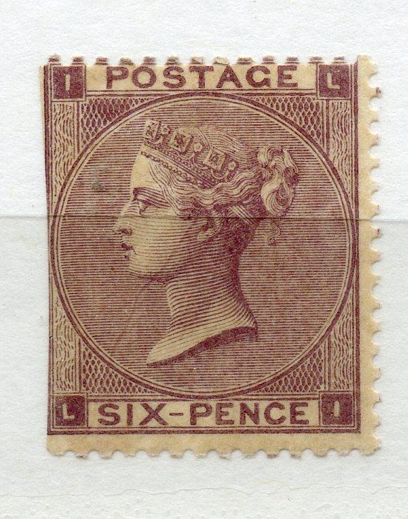 1862 - 4 6d lilac (LI) cut down wing margin LHS mint. SG 84. Cat £2250.