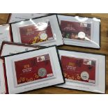 COIN COVERS 2017 - 2020 Lunar Years each bearing 1oz silver coin limited edition to 250 in special