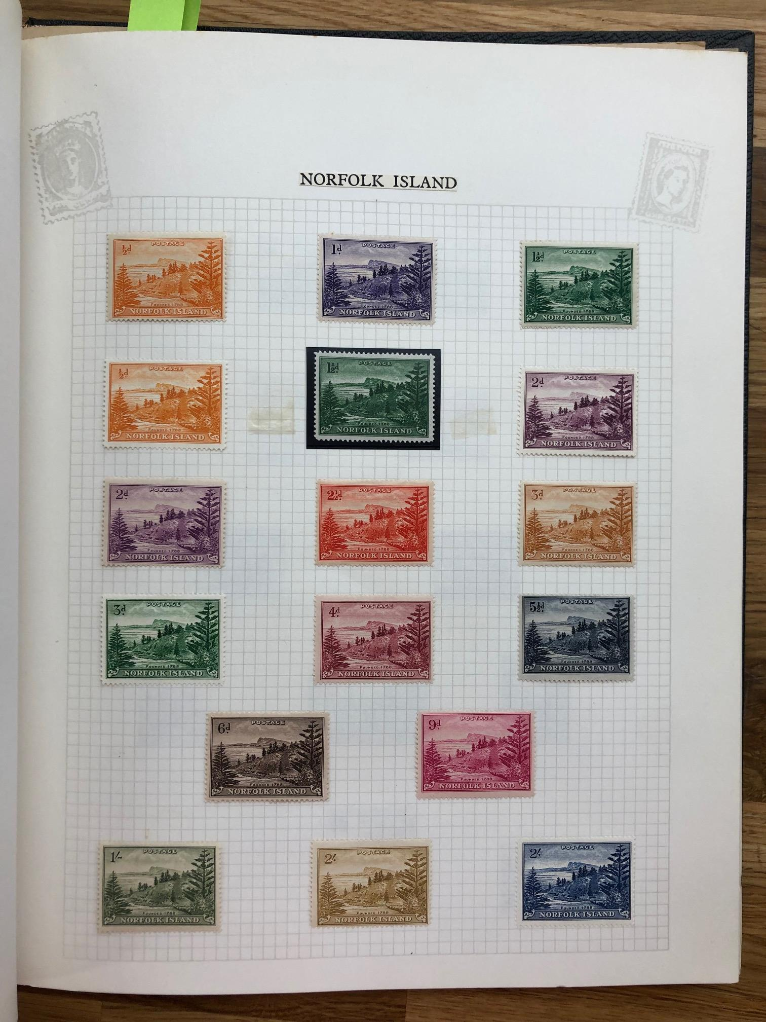 COMMONWEALTH a clean mint collection of Pacific Islands with Nauru GB opts to 1/-, Niue, Norfolk - Image 2 of 4