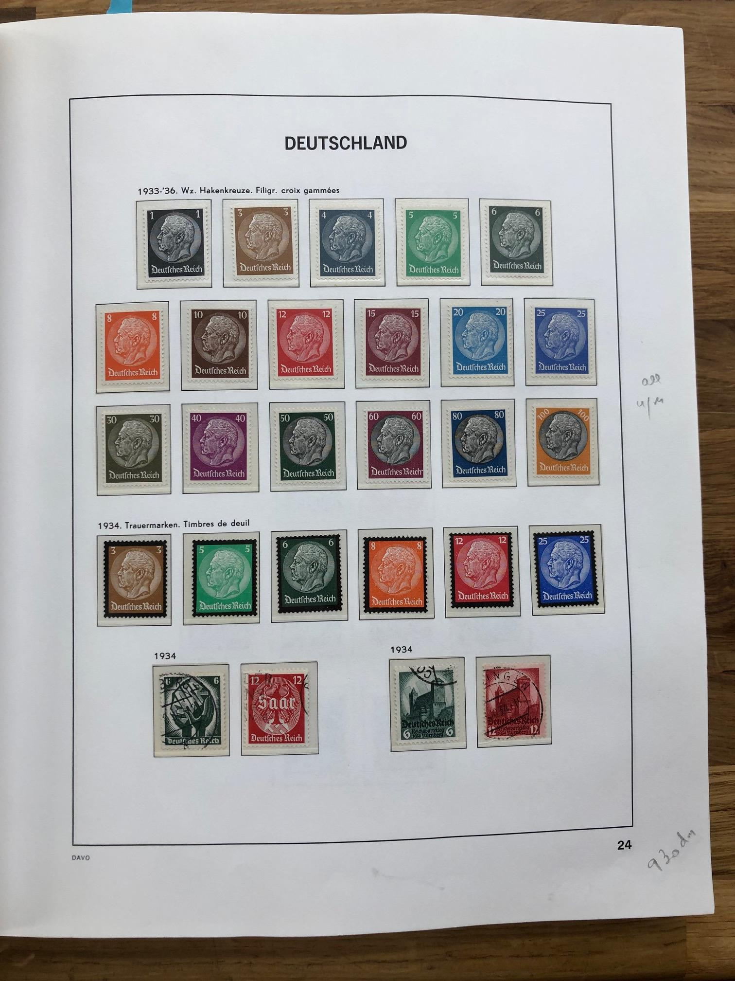 GERMANY a very fine mint/um and fu collection in Davo hingeless album. A decent range of Empire - Image 2 of 3