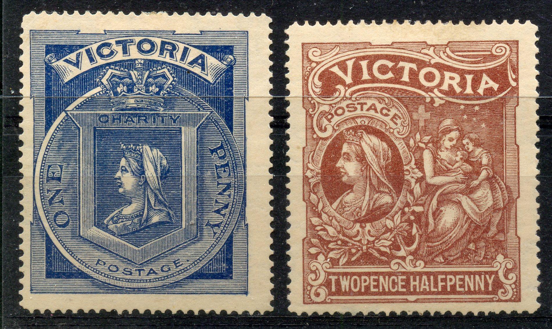 VICTORIA 1897 Diamond Jubilee set mint. SG 353 - 4. Cat £154.