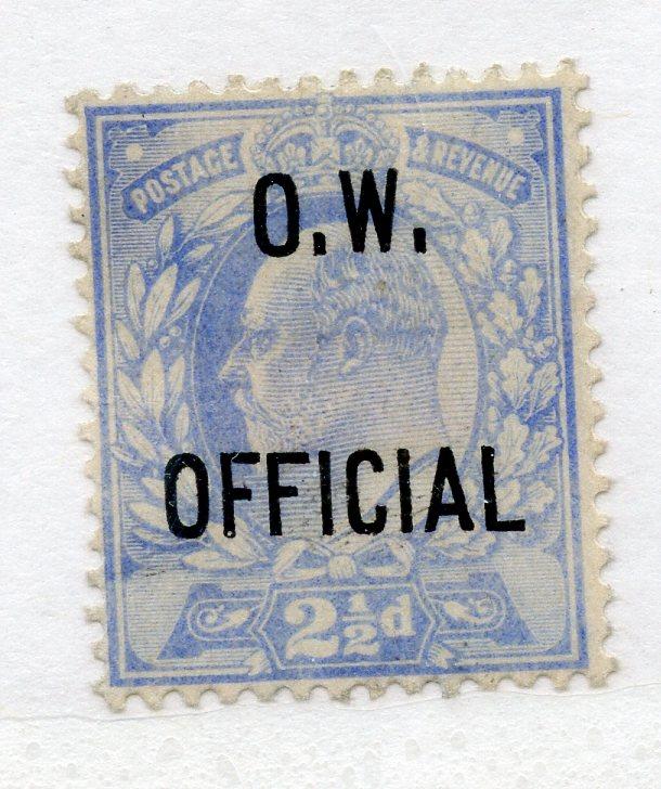 OFFICIALS OW 1902 2½d ultramarine mint, a little faded. SG 039. Cat £2400.