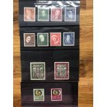 GERMANY WEST 1951 St Mary's Church, Philatelic Exh, 1951 and 1952 Relief Fund sets all mint. Cat £