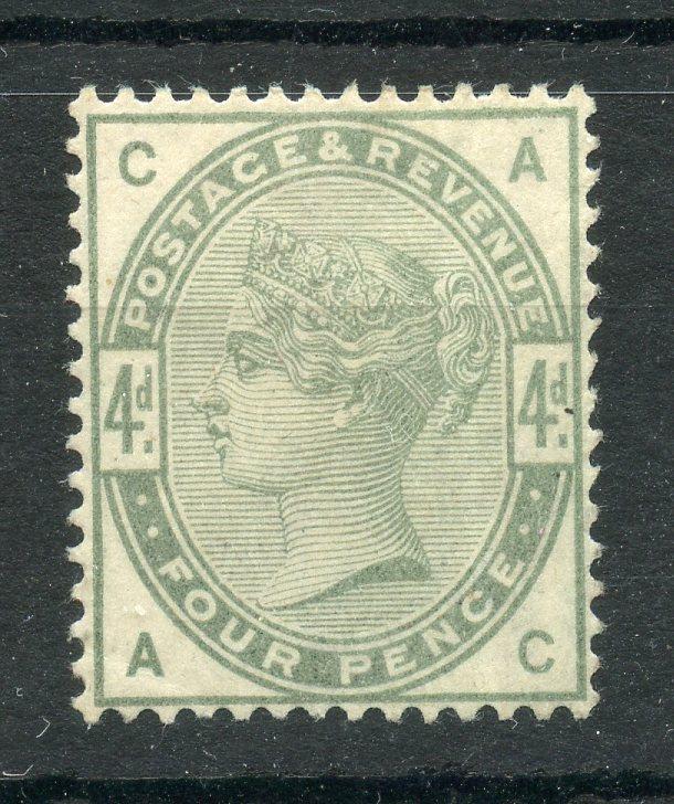 1883 - 4 4d dull green (AC) mint, faint crease. SG 192. Cat £550.
