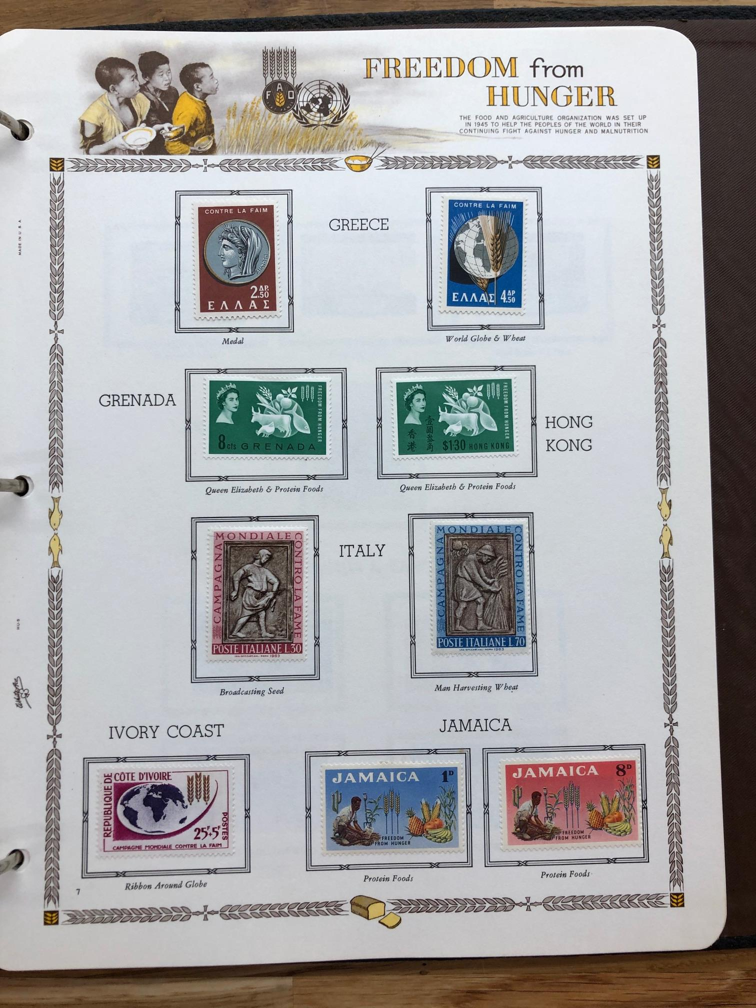 OMNIBUS 1963 Freedom From Hunger mint collection in special album. Most of the basic CW and world - Image 2 of 2