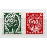 GERMANY 1934 Saar Plebscite set um. SG 541 - 2. Cat £115.
