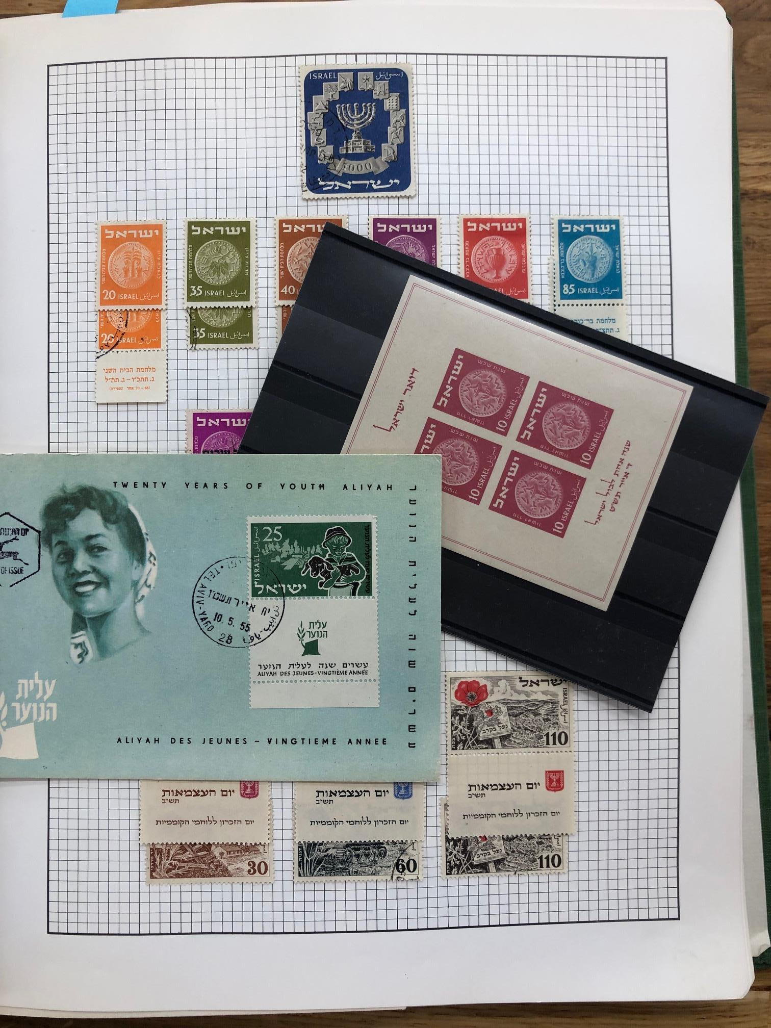 ISRAEL 1949 - 2001 mint and/or used collection in album with a useful run of material with tabs.