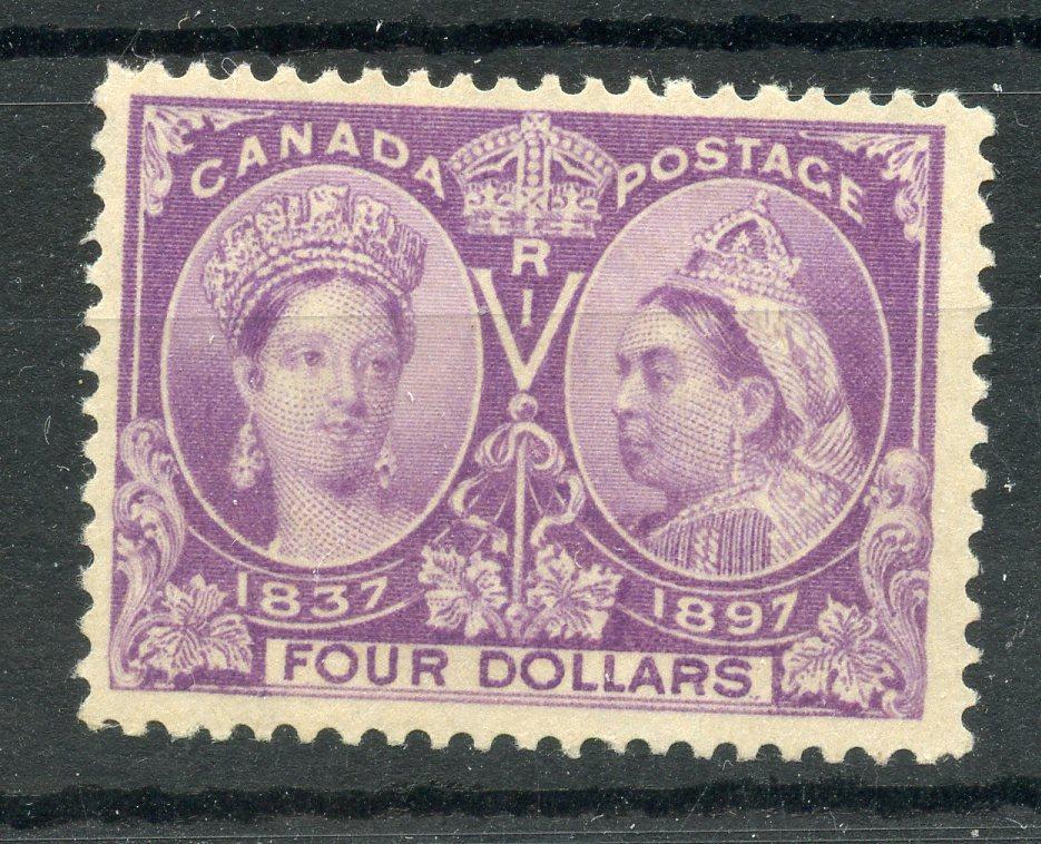 CANADA 1897 $4 violet Jubilee mint. SG 139. Cat £1400.
